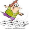hop scotch woman